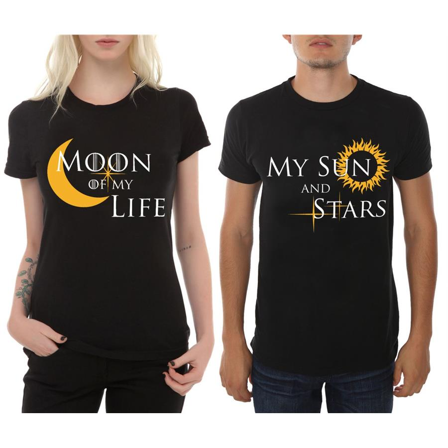 Game Of Thrones -Moon Of My Life & My Sun And Stars Çift T-shirt