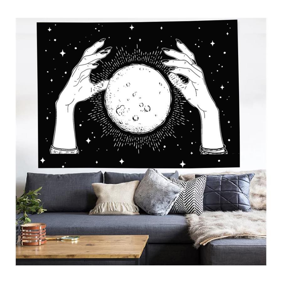 70 x 100 Cm El İçinde Moon Duvar Halısı KDH005 - kostebek.com.tr