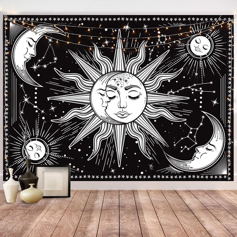 70 x 100 Cm Sleeping Moon And Sun Duvar Halısı KDH072 - kostebek.com.tr